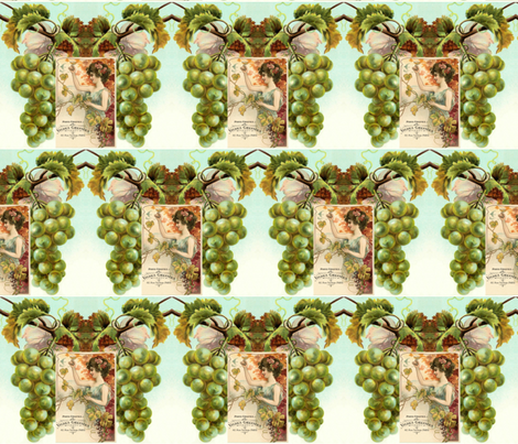 Winemaker Harvest Time fabric by linda-hughes on Spoonflower - custom fabric
