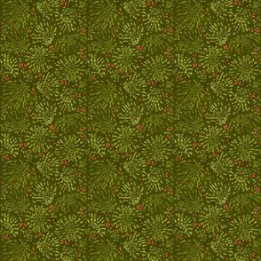 Poppy green bursts