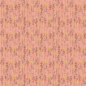 Romance Poppy Seed Pods Sm Lt Pink