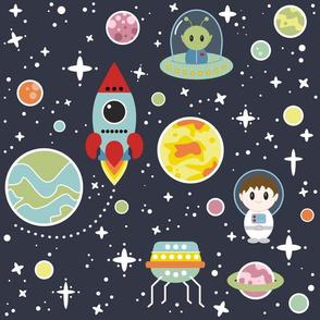 Oh, Space Boy - Vector Version