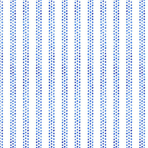 Stripes of Blue Watercolor Dots