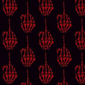 red-skeletal-middle-finger-dragonbone-designs