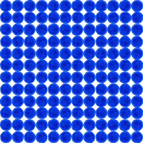 Blue Dots Grid fabric by kirsten_sevig on Spoonflower - custom fabric