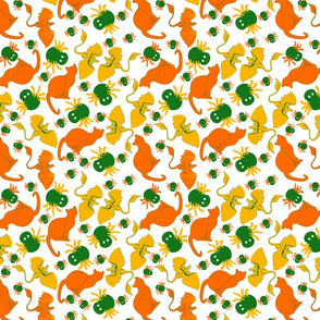 candy corn cats and spiders