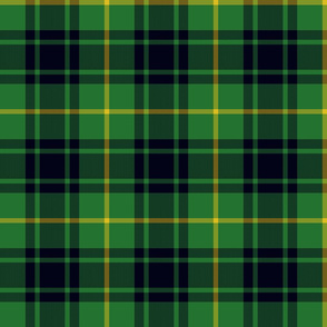 MacArthur tartan - green and black