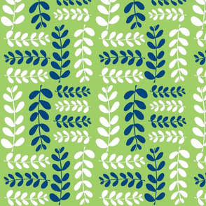 Olive Branches 2 (granny smith green, midnight sky blue)