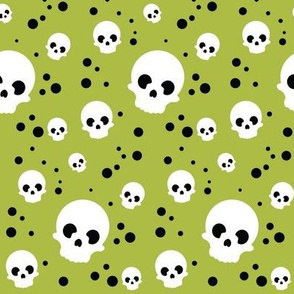 Wee Spooky Skulls - Green