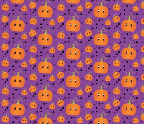 Wee Spooky Pumpkins - Purple fabric by cloudsfactory on Spoonflower - custom fabric