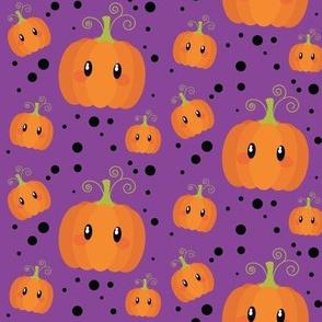 Wee Spooky Pumpkins - Purple