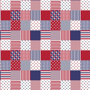 USA Mini Flag Patchwork Quilt Squares