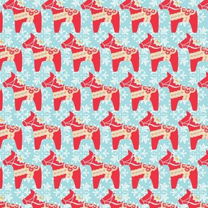 Swedish Holiday Dala Horse Pattern