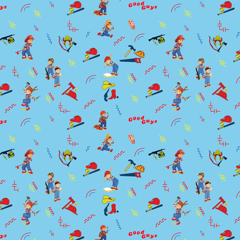 Chucky Child's Play-Random - blue fabric by w855173w on Spoonflower - custom fabric