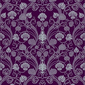 lotus damask dark grape