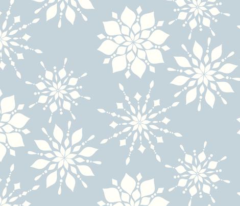 Elegant Snowflakes Gray Blue fabric by sugarfresh on Spoonflower - custom fabric