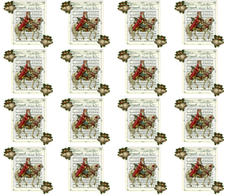 Jingle Bells Santa fabric by linda-hughes on Spoonflower - custom fabric