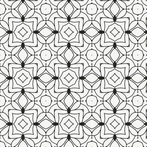 Black on White Abstract Geometric