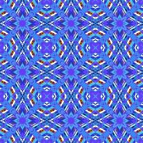 Plaid Matrix  Blue 1