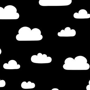 Clouds - Black Background