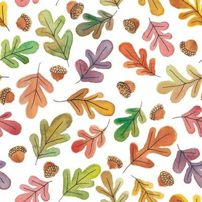 Autumn Leaves and Acorns