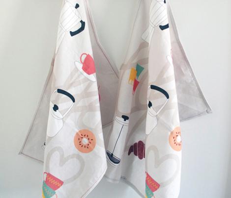 Coffee Love - Tea Towel