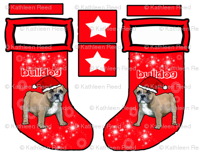Bulldog Cut and sew stocking