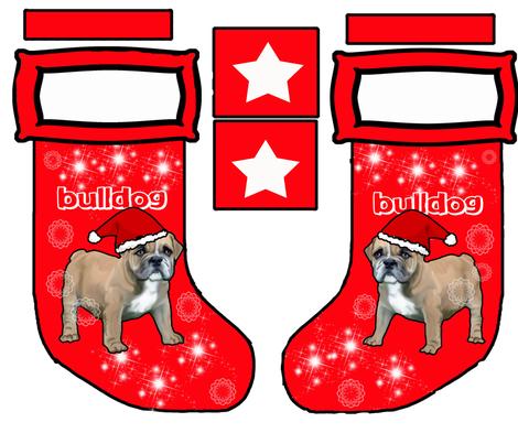 Bulldog Cut and sew stocking fabric by dogdaze_ on Spoonflower - custom fabric