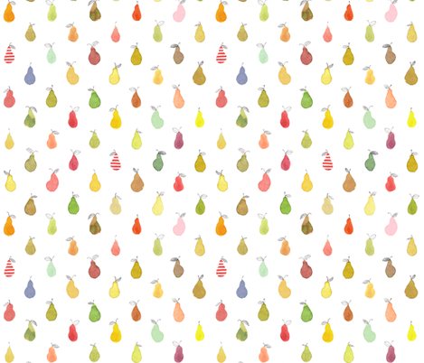 Striped Pear Polka Dot fabric by kirsten_sevig on Spoonflower - custom fabric