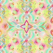 Soft Neon Pastel Boho Pattern
