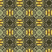 Abstract Geometric in Greens and Yellow