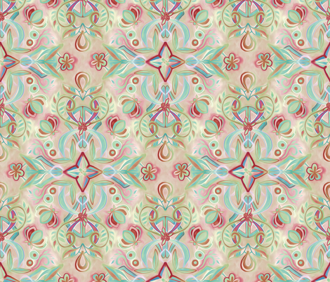Soft Marsala and Sage Pattern fabric by micklyn on Spoonflower - custom fabric