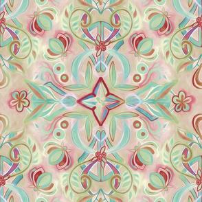 Soft Marsala and Sage Pattern