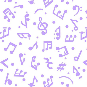 """Music Notes in Lilac"" medium scale."