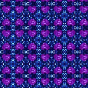 floating hearts blue, purple and pink glitter