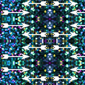 blue glitter galaxy arrows