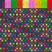 Multi Glass Bright (2016 Calendar Tea Towel)