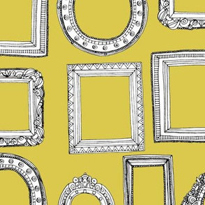 picture frames yellow