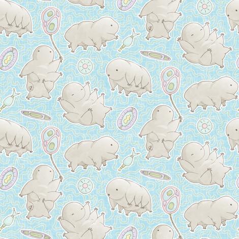 Water Bear - Tartigrade: Blue Sky fabric by mia_valdez on Spoonflower - custom fabric