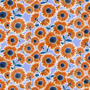 Red, White & Blue Daisy Flowers 2 (lighter)
