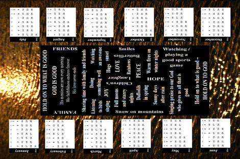 HOLD ON TO WHAT IS GOOD - 2016 CALENDAR fabric by b2b on Spoonflower - custom fabric