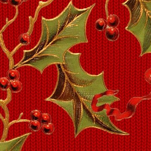 Christmas Holly ~ Richelieu Knit