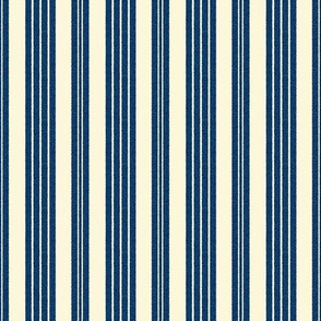 French Ticking ~ Lonely Angel Blue and Hameau ~ Woven