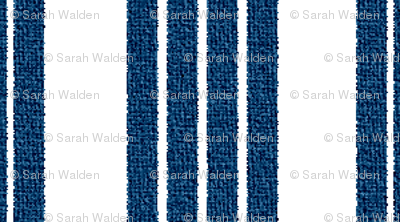 French Ticking ~ Lonely Angel Blue and White ~ Woven