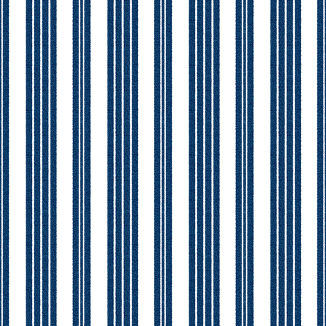 French Ticking ~ Lonely Angel Blue and White ~ Woven  fabric by peacoquettedesigns on Spoonflower - custom fabric