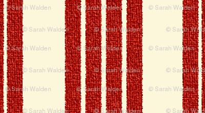 French Ticking ~ Turkey Red and Hameau ~ Woven