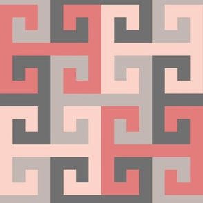 Tesselating T Greek Key Trendy Pinks