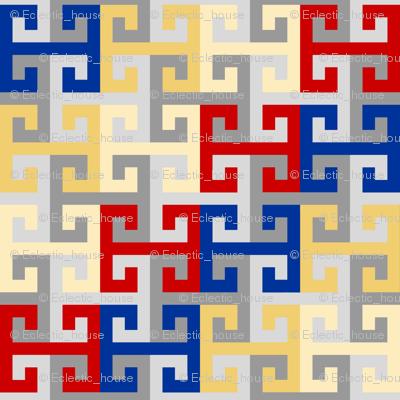 Tesselating T Greek Key Style UK2