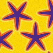 STARFISH Inlaid Purple Orange Cut n Sew