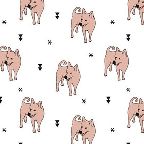 Adorable puppy dog illustration kids pattern design scandinavian style gender neutral