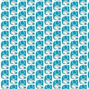 SMALL Elephant Love Aqua Gray