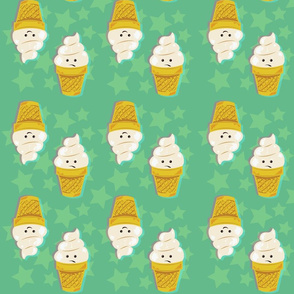 Soft Serve Ice Cream Cone